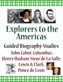 Explorers Guided Biography Study Bundle of 6