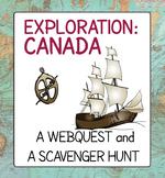 Exploration Canada Webquest Online Scavenger Hunt Activities
