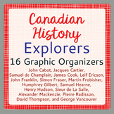 Exploration Canada Activities 16 Graphic Organizers