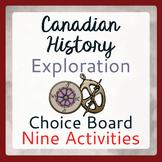 Exploration Canada 9 Activities Choice Board