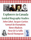 Explorers: Canada Guided Biography Studies BUNDLE of 6