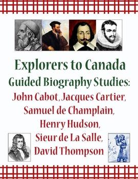 Explorers: Canada Guided Biography Studies Bundle of 6