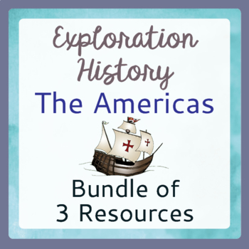 Explorers Exploration Bundle Task Cards Posters Graphic Organizers