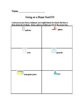 Exploring 3-D Shapes
