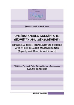 Grades 2 and 3:Exploring 3D Figures and Related Measuremen