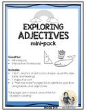 Exploring Adjectives Mini-Lessons, Interactive Notebook  L