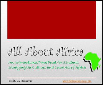 Exploring Africa Unit