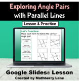 Exploring Angle Pair Relationships Parallel Lines and Tran