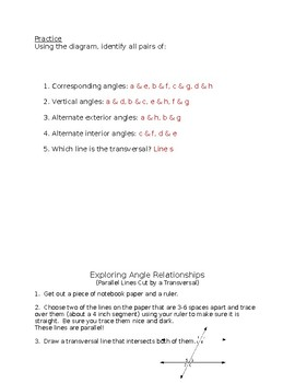 Exploring Angle Relationships and Vocabulary