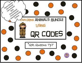 Animals Bundle using QR Codes Listening Center