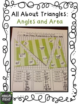 Exploring Area and Angle Measurement of Triangles Math Journal