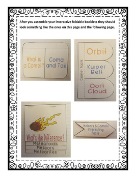 Exploring Astronomy: Meteors and Comets Interactive Foldable Booklets