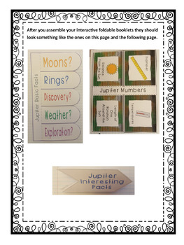 Exploring Astronomy: Planet Jupiter Interactive Foldable Booklets