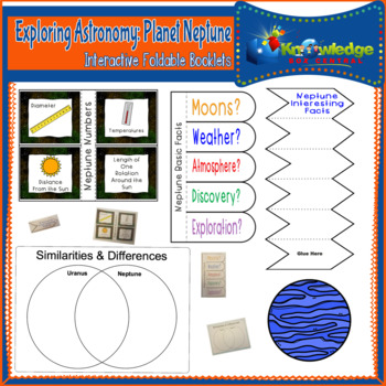 Exploring Astronomy: Planet Neptune Interactive Foldable Booklets