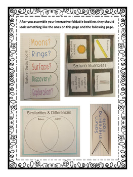 Exploring Astronomy: Planet Saturn Interactive Foldable Booklets