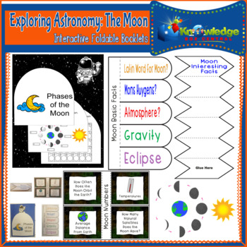 Exploring Astronomy: The Moon Interactive Foldable Booklets