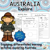 Exploring Australia Mini Activity Pack