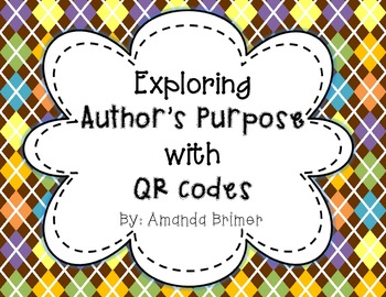 Exploring Author's Purpose with QR codes