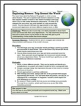 Exploring Biomes:  Biome Trip Around the World Postcard Wr