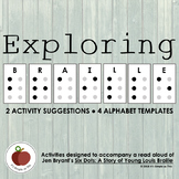 Braille Activities - Six Dots - Monarch Award Book - Reading - Project - STEAM