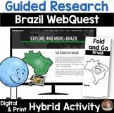 Exploring Brazil WebQuest- Cultural Exploration for Google Classroom