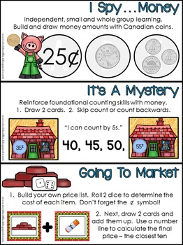 Exploring Canadian Money: Math Lessons and Mathstations
