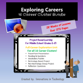 Exploring Careers:  16 Career Cluster Units BUNDLE | Distance Learning