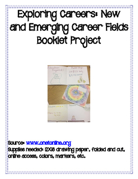 Exploring Careers: New & Emerging Fields Booklet Project
