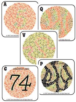 Exploring Color Blind - Test Card & Internet Scavenger Hunt Activity