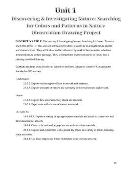 Exploring Color, Form, Shape & Texture Through Nature, Preschool & Kindergarten