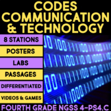 Communication through Codes & Technology BUNDLE Science Stations