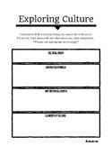 Exploring Culture Task