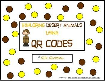 Desert Animals (animal habitat) with QR codes