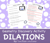 Exploring Dilations GeoGebra Investigation