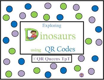 Dinosaurs using QR Codes Listening Center