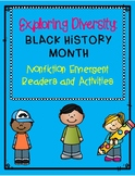 Exploring Diversity(Black History Month) Nonfiction emergent reader activities