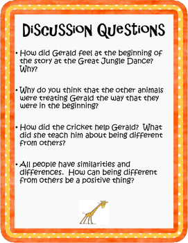 """Exploring Diversity with """"Giraffes Can't Dance"""""""