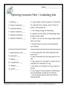 Exploring Economics Teacher Resources Set