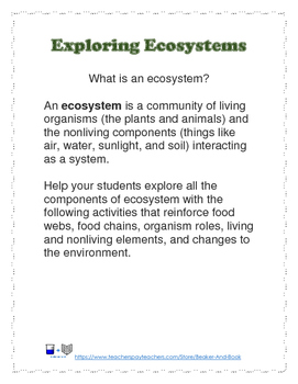 Exploring Ecosystems Activity Pack