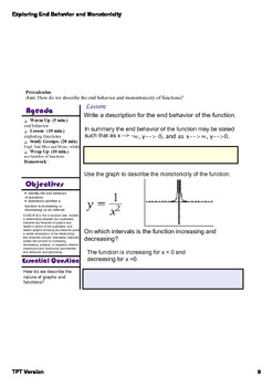 Exploring End Behavior and Monotonicity of Functions