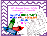 Exploring Environmental Practices: Science Interactive Word Wall Coloring Pages