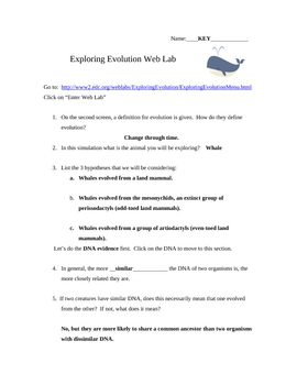 Exploring Evolution Web Lab