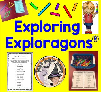 Exploring Exploragons Activity Math Station Center Geometry Angles Polygons