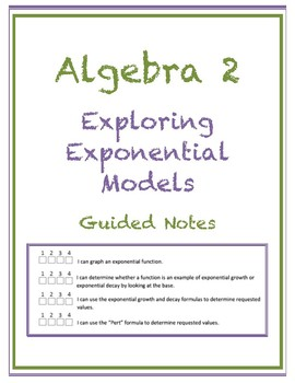 Exploring Exponential Models Guided Notes (Editable)