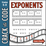 Exponents: Crack the Code Math Practice