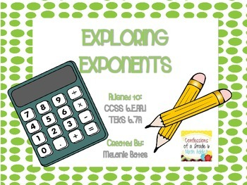 Exploring Exponents Notes and Practice - Gr. 6