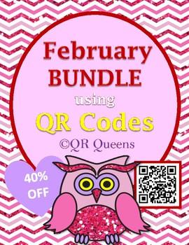 February Fun using QR Codes Bundle