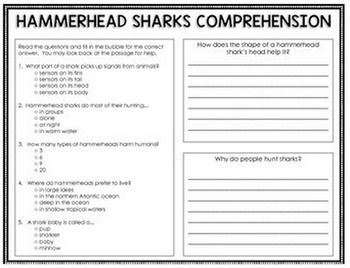 Fish - Reading Passages and Comprehension Activities