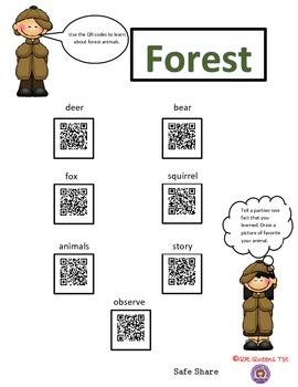 Exploring Forest Animals (animal habitat) with QR codes