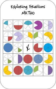 Exploring Fractions Matho (Math Bingo Game)